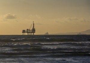 oil platform off coast